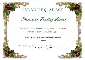 2017-2018 Christmas Trading