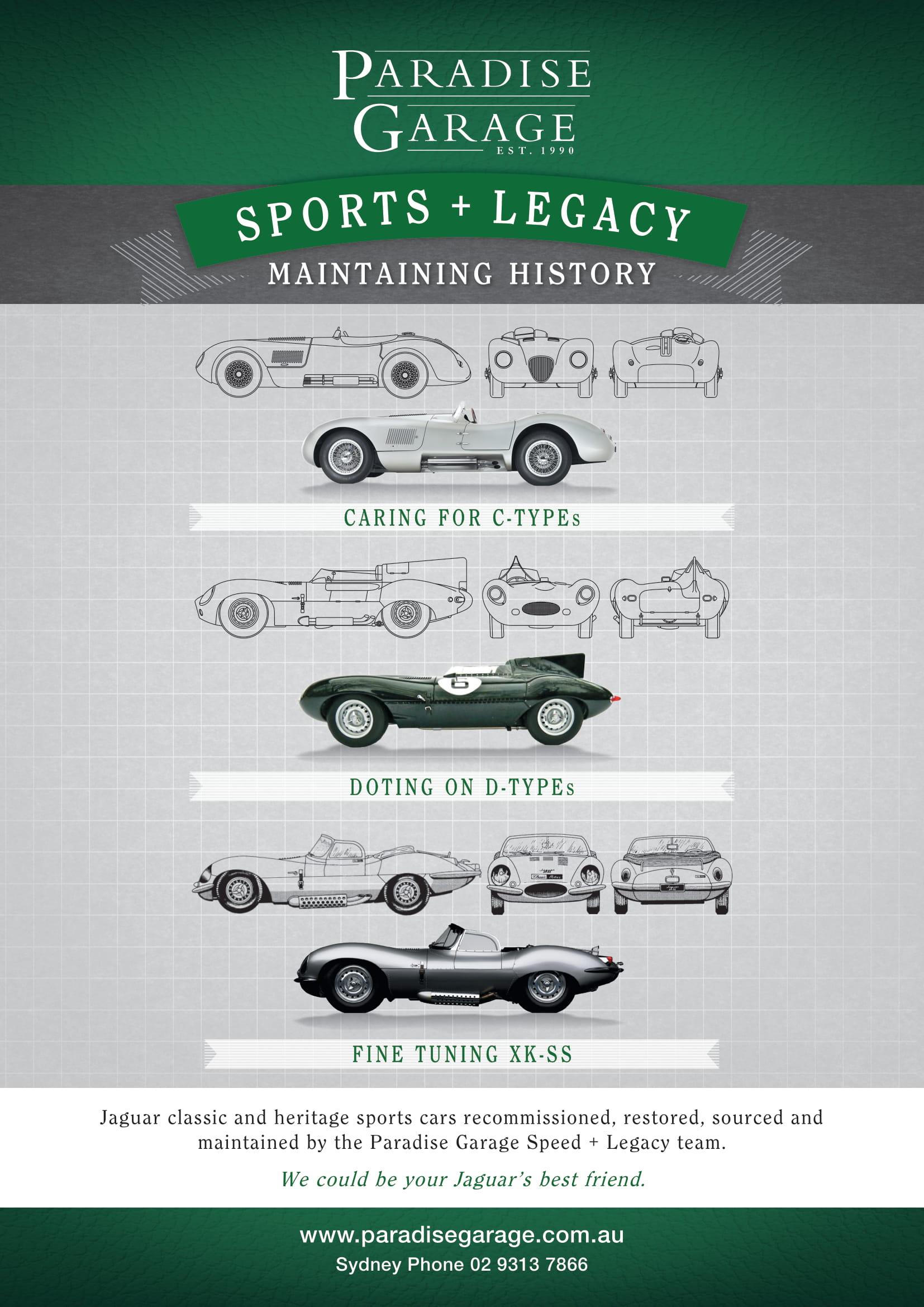 Paradise-Garage-Heritage-Jaguar-Speed-+-Legacy-Jaguar-C-D-XKSS-Maintaining-History