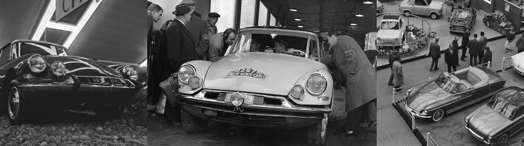 citroen ds black and white